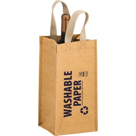 Tornado Washable Kraft Paper Wine Tote Bag