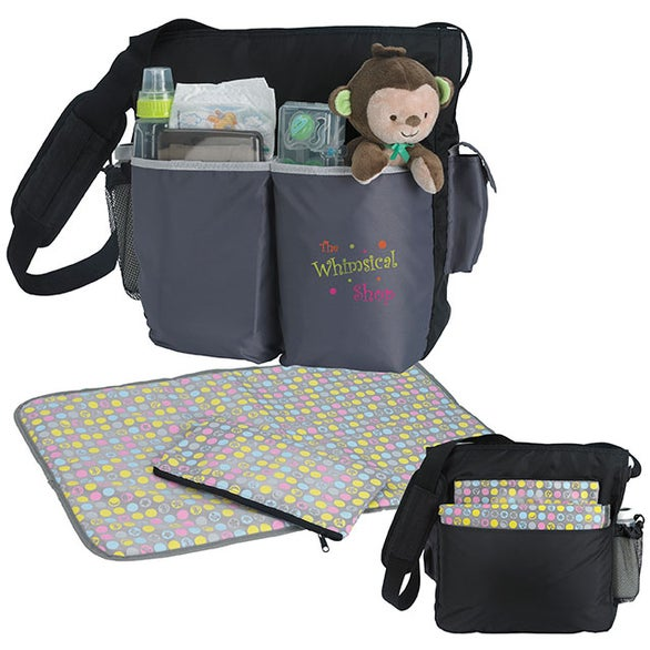 Black Tot Diaper Bag