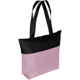 Monogrammed Two-Tone Tote Bag