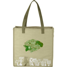 Trash Talking Recycled Shopper Tote Bag Printed with Your Logo