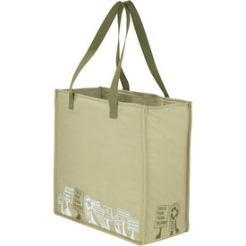 Logo Trash Talking Recycled Shopper Tote Bag