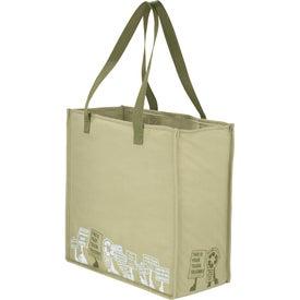 Logo Trash Talking Recycled Shopper Tote Bag
