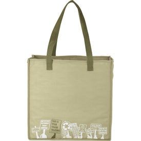 Trash Talking Recycled Shopper Tote Bag for Customization