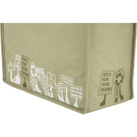 Monogrammed Trash Talking Recycled Shopper Tote Bag