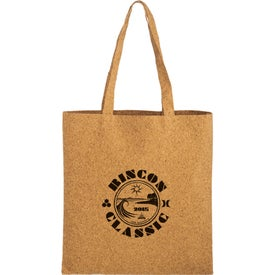 "Trendy Cork Tote Bag with Matching Handles (15"" x 16"")"