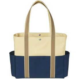 Tri-Color Tote Bag with Your Slogan