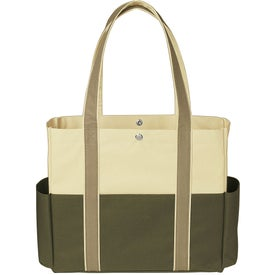 Monogrammed Tri-Color Tote Bag