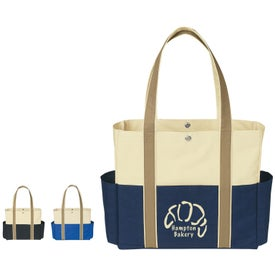 Monogrammed Tri-Color Tote Bag