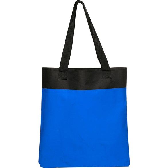 Blue / Black Two Tone Deluxe Tote Bag