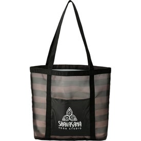 Two-Tone Mesh Shopper Tote