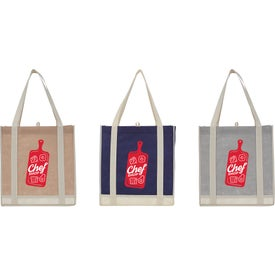 Two-Tone Non-Woven Little Grocery Tote Bag