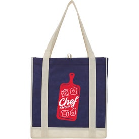 Two-Tone Non-Woven Little Grocery Tote Bags
