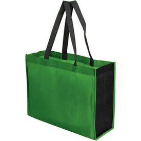 """Two Toned Gusseted Tote Bag (16"""" x 12"""")"""