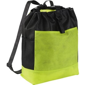 The Two-Time Backpack Tote Bag with Your Slogan