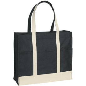 Customized Multi-Colored Two-Tone Tote Bag