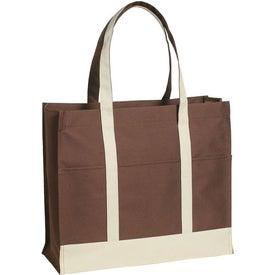Customized Multi-Colored Two-Tone Tote Bag