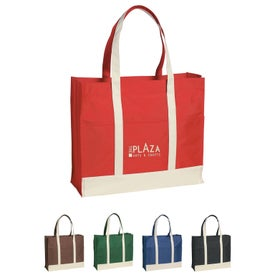 Multi-Colored Two-Tone Tote Bag