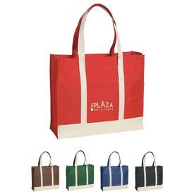 Multi-Colored Two-Tone Tote Bag