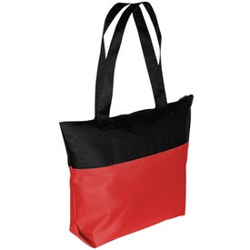 Two-Tone Zipper Tote Bag for Marketing