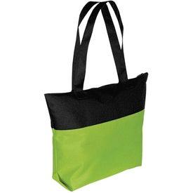 Custom Two-Tone Zipper Tote Bag