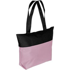 Two-Tone Zipper Tote Bag for your School