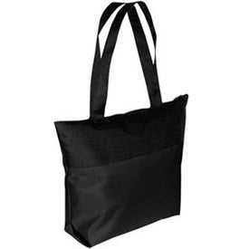 Two-Tone Zipper Tote Bag for Your Company