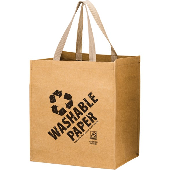 Natural Kraft Typhoon Washable Kraft Paper Grocery Tote Bag