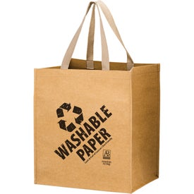 Typhoon Washable Kraft Paper Grocery Tote Bags