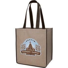 V Natural Kraft Sack Imprinted with Your Logo