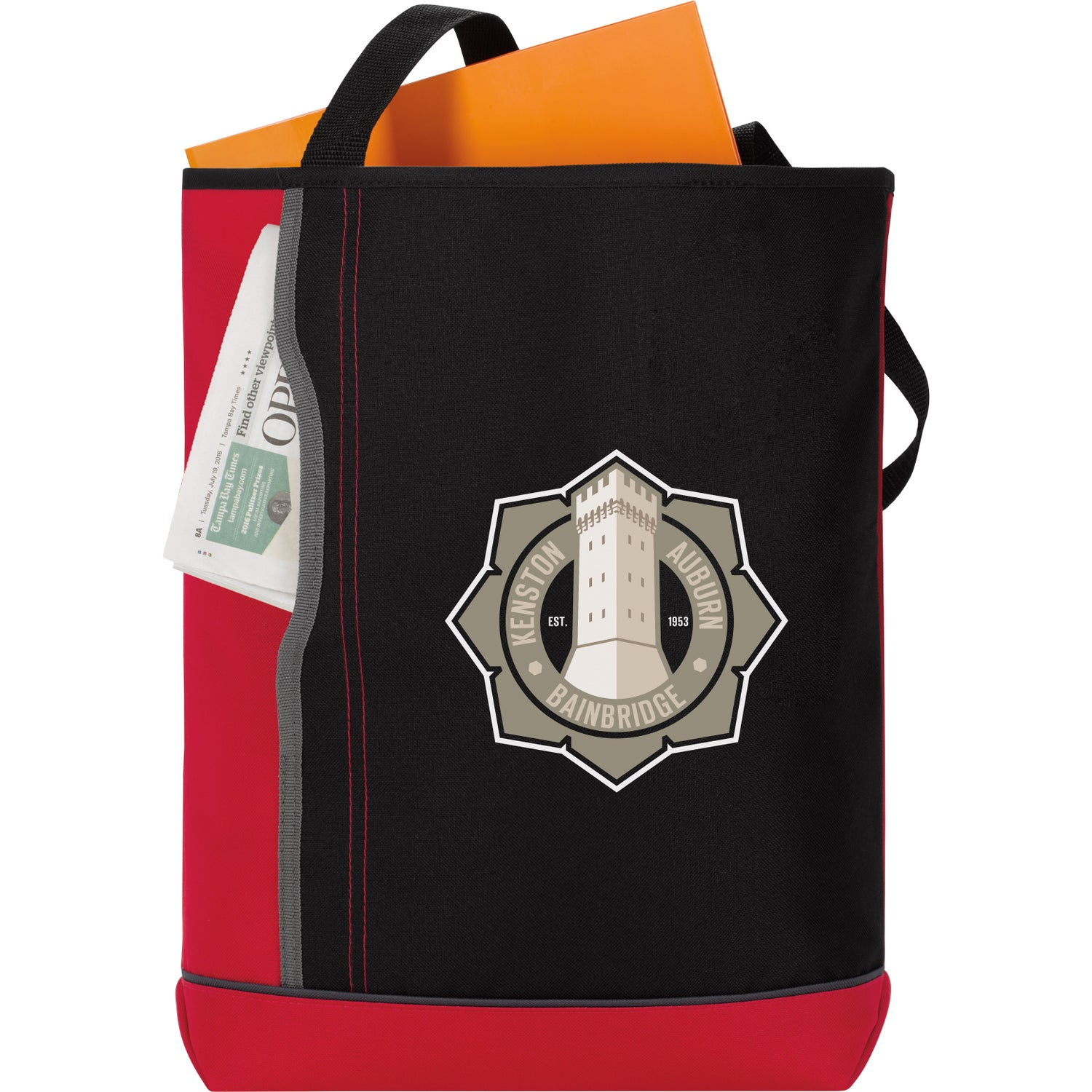 0e51c3ac9810a Promotional Vertical Pocket Tote Bags with Custom Logo for  5.38 Ea.