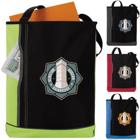 Vertical Pocket Tote Bag