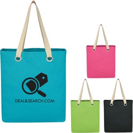 Vibrant Cotton Canvas Tote Bag