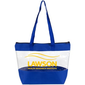 Vista Clear Zippered Vinyl Tote Bag