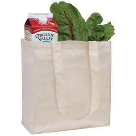 V Natural Organic Tote Bag - Natural Imprinted with Your Logo