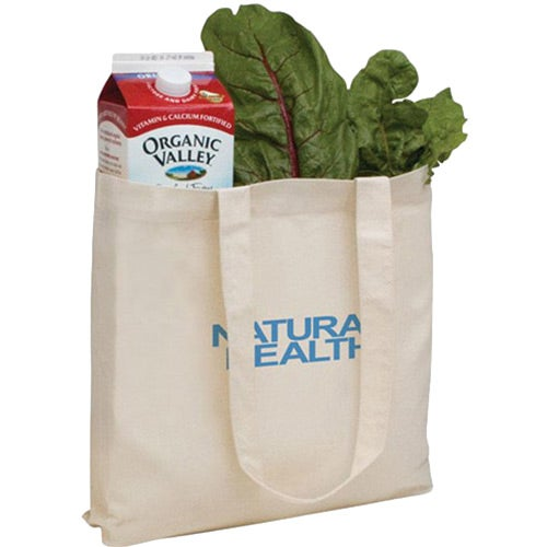 V Natural Organic Tote Bag - Natural