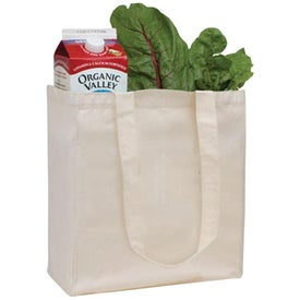 Customized V-Natural Organic Cotton Grocery Tote Bag