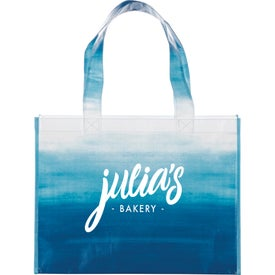Watercolor Laminated Shopper Tote Bag