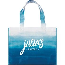 Watercolor Laminated Shopper Tote Bag