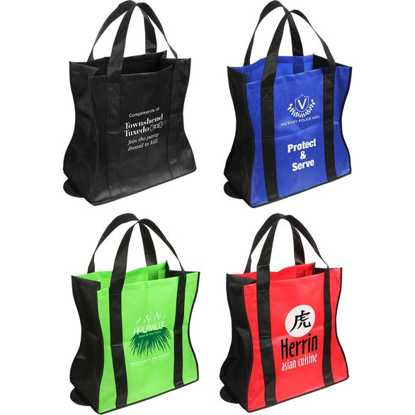 Lime Green / Black Wave Rider Folding Tote Bag