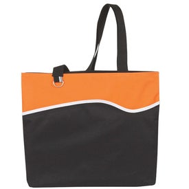 Monogrammed Wave Runner Tote Bag