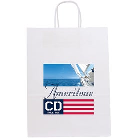 White Fort Seal-able Tote Bags (Full Color Logo)