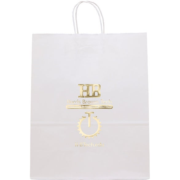 White Kraft White Guard Seal-able Tote Bag
