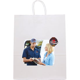 White Guard Seal-able Tote Bag (Full Color Logo)