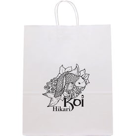 White Guard Seal-able Tote Bags (Ink Imprint)