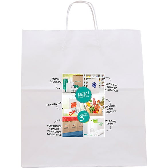 White White Knight Seal-able Tote Bag