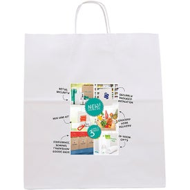 White Knight Seal-able Tote Bags (Full Color Logo)