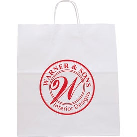 White Knight Seal-able Tote Bags (Ink Imprint)