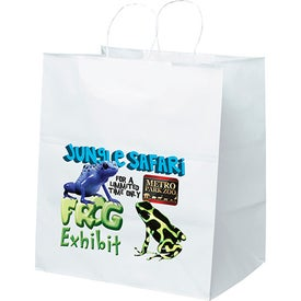 White Kraft Brute Tote Bag (Full Color)