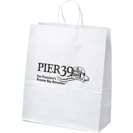 White Kraft Citation Tote Bag
