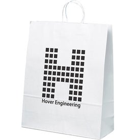 White Kraft Stephanie Tote Bag (Ink Imprint)